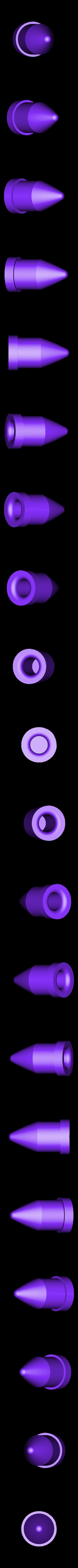 Nose_Cone_Impact_Head.stl Download free STL file Go Pro Cannon Cam • 3D printer model, MAKE