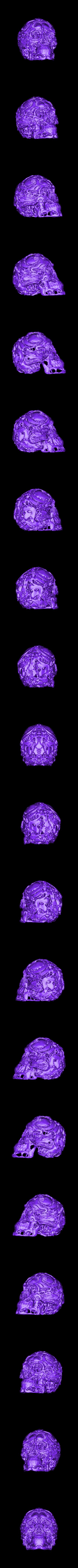 humanhunter-skull.obj Télécharger fichier OBJ gratuit Chasseurs - Crâne de chasseur • Modèle imprimable en 3D, SYFY
