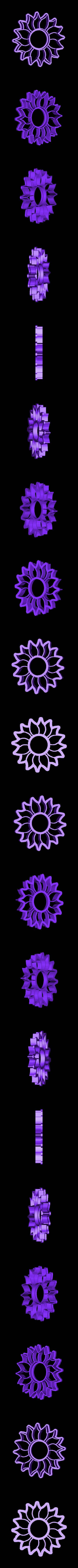 Cortante Flor Sol.stl Download STL file Sunflower Cookie Cutter, Sunflower cookie cutter • Model to 3D print, abauerenator