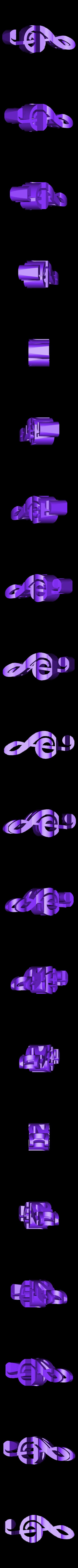MUSIC.stl Download STL file Text Flip. Music - Treble clef • 3D printer object, mr_printer_bot