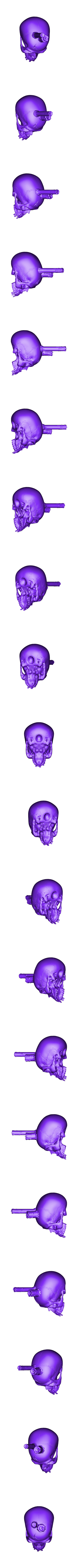 Skull_06_to_3D_printer.stl Download STL file Skull Candle • 3D printable object, MWopus