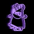 mama pig.stl Download STL file Peppa Pig Family Cookie Cutter • 3D printer model, Gustavo015