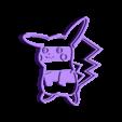 040 pikachu.stl Download STL file Pokémon Cake Cutter • Object to 3D print, Gustavo015