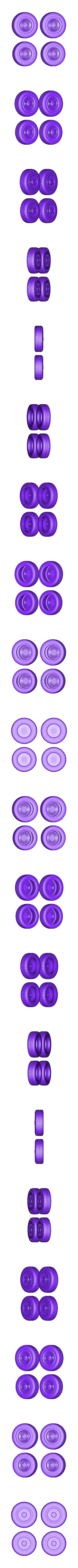 tires_trans.stl Download free STL file DIY DeLorean Time Machine with lights!! • 3D printer model, OneIdMONstr