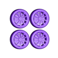 4wheelsMODEL3.stl Télécharger fichier STL gratuit TESLA MODÈLE 3 • Plan pour impression 3D, Gophy