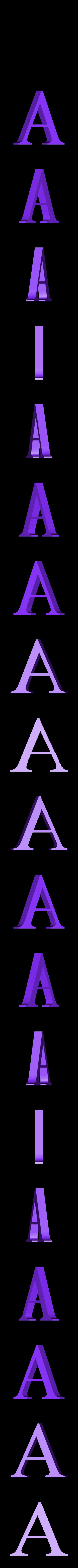 A.STL Télécharger fichier STL gratuit alphabet • Modèle pour imprimante 3D, Cerega
