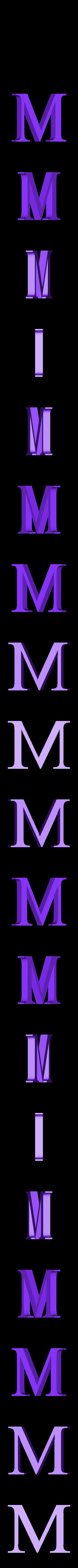 M.STL Télécharger fichier STL gratuit alphabet • Modèle pour imprimante 3D, Cerega