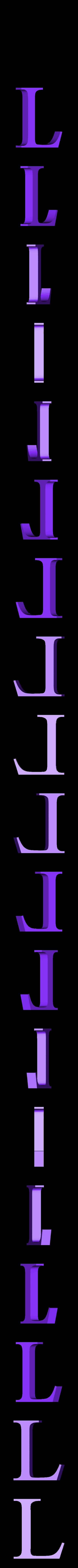 L.STL Télécharger fichier STL gratuit alphabet • Modèle pour imprimante 3D, Cerega