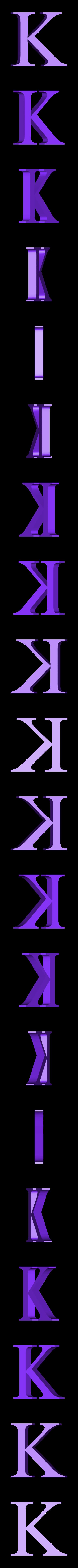K.STL Télécharger fichier STL gratuit alphabet • Modèle pour imprimante 3D, Cerega