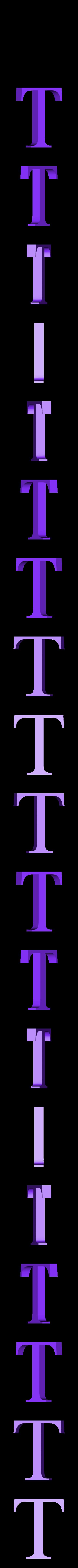 T.STL Télécharger fichier STL gratuit alphabet • Modèle pour imprimante 3D, Cerega