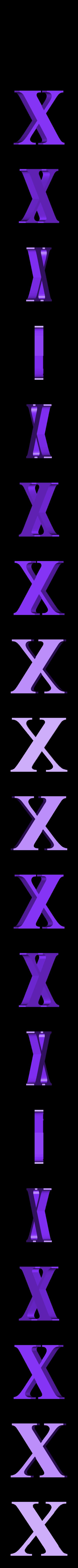 X.STL Télécharger fichier STL gratuit alphabet • Modèle pour imprimante 3D, Cerega