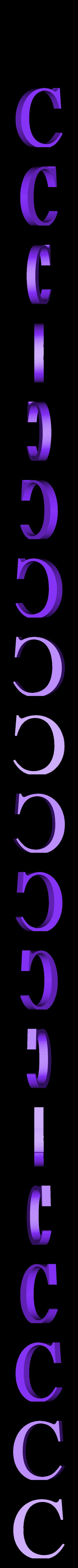 C.STL Télécharger fichier STL gratuit alphabet • Modèle pour imprimante 3D, Cerega
