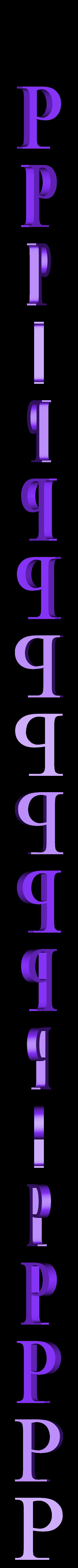 P.STL Télécharger fichier STL gratuit alphabet • Modèle pour imprimante 3D, Cerega