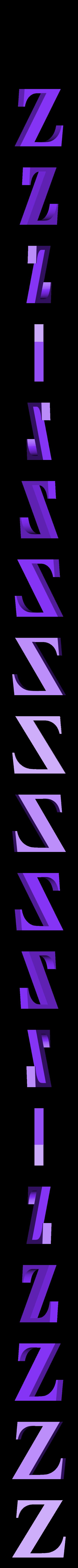 Z.STL Télécharger fichier STL gratuit alphabet • Modèle pour imprimante 3D, Cerega