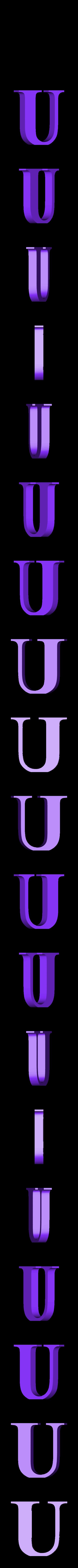 U.STL Télécharger fichier STL gratuit alphabet • Modèle pour imprimante 3D, Cerega