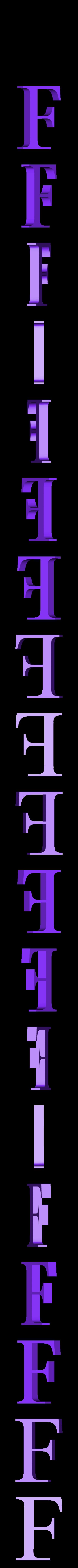 F.STL Télécharger fichier STL gratuit alphabet • Modèle pour imprimante 3D, Cerega