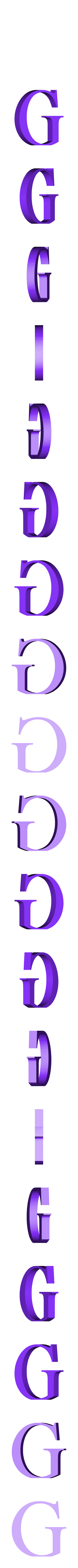 G.STL Télécharger fichier STL gratuit alphabet • Modèle pour imprimante 3D, Cerega