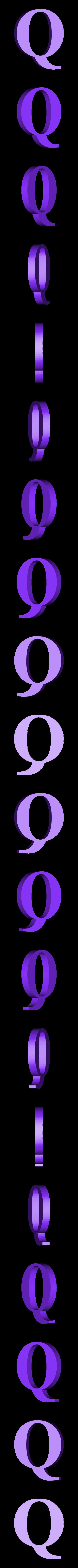 Q.STL Télécharger fichier STL gratuit alphabet • Modèle pour imprimante 3D, Cerega