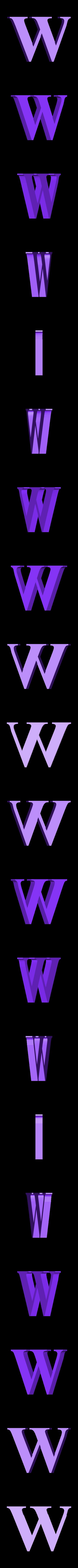 W.STL Télécharger fichier STL gratuit alphabet • Modèle pour imprimante 3D, Cerega
