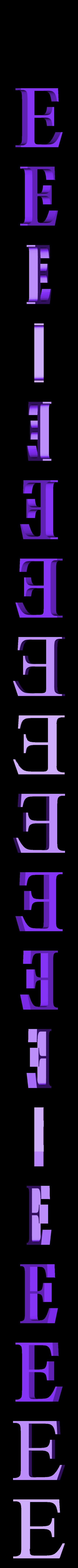 E.STL Télécharger fichier STL gratuit alphabet • Modèle pour imprimante 3D, Cerega
