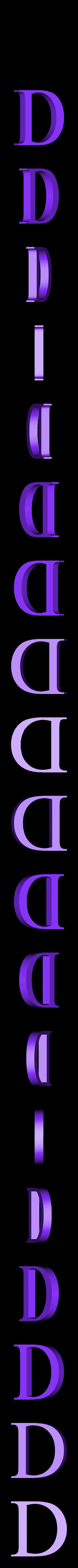 D.STL Télécharger fichier STL gratuit alphabet • Modèle pour imprimante 3D, Cerega
