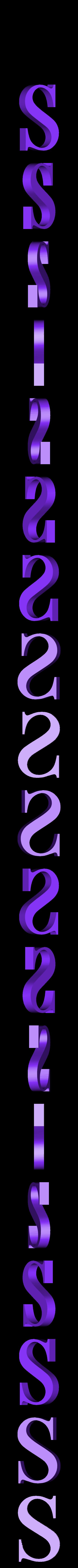 S.STL Télécharger fichier STL gratuit alphabet • Modèle pour imprimante 3D, Cerega
