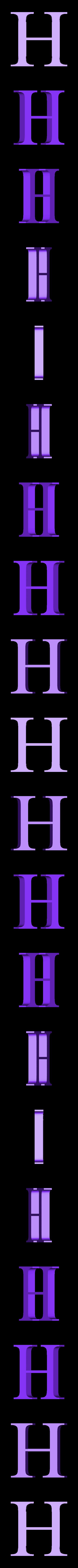 H.STL Télécharger fichier STL gratuit alphabet • Modèle pour imprimante 3D, Cerega