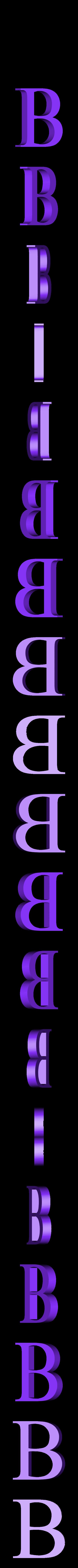 B.STL Télécharger fichier STL gratuit alphabet • Modèle pour imprimante 3D, Cerega