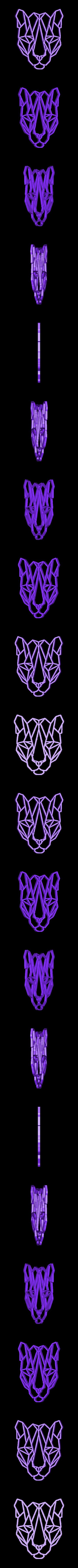 tigre.stl Télécharger fichier STL Pack animaux 2D sculpture murale • Design pour imprimante 3D, UnpredictableLab