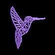 colibri.stl Download STL file Pack 2D wall sculpture birds • 3D printing template, UnpredictableLab