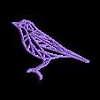 bird.stl Download STL file Pack 2D wall sculpture birds • 3D printing template, UnpredictableLab