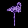 flamenco.stl Download STL file Pack 2D wall sculpture birds • 3D printing template, UnpredictableLab