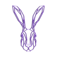 bunny.stl Download free STL file Bunny Wall Sculpture 2D • 3D print design, UnpredictableLab