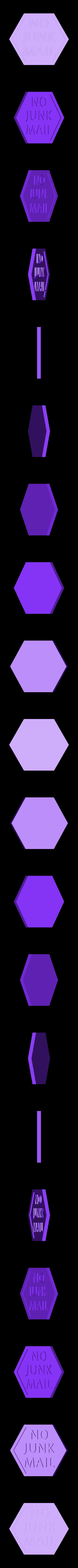 nojunkmail_stop.stl Télécharger fichier STL gratuit Pas de pourriel - Panneau d'arrêt • Design pour imprimante 3D, 3DME