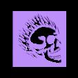 Kaveira_eletrica.stl Télécharger fichier STL gratuit Crâne électrique au pochoir • Modèle pour imprimante 3D, CircuitoMaker