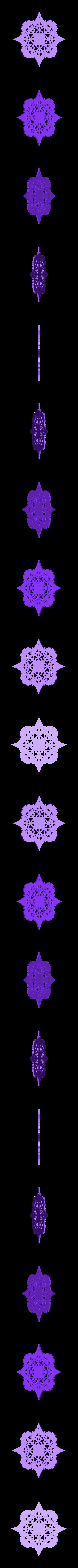 GothicSnowflake2.STL Download free STL file Gothic Snowflakes • 3D printer template, PortoCruz675