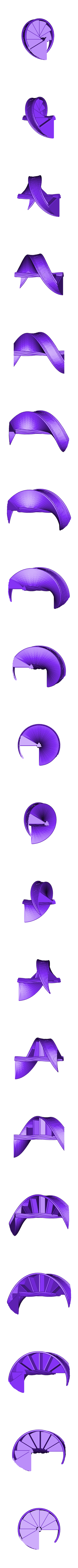 CStairs2Half1.stl Télécharger fichier STL gratuit Escalier du château Deux • Design imprimable en 3D, gabutoillegna56