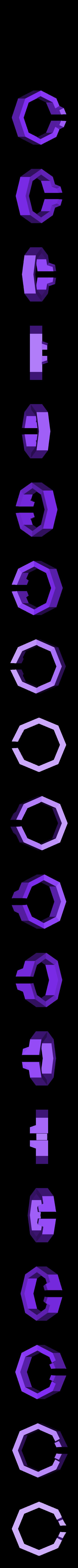 Octogram_ring.stl Télécharger fichier STL gratuit Bague - Octogramme • Objet à imprimer en 3D, DoloresSegura