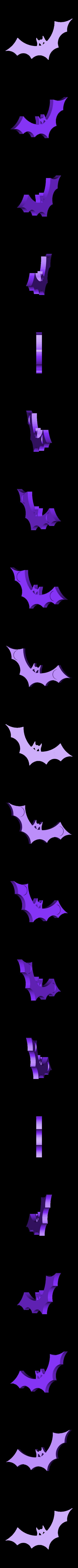 bat.stl Download free STL file Halloween Bat Fridge Magnet • Object to 3D print, Louisdelgado678