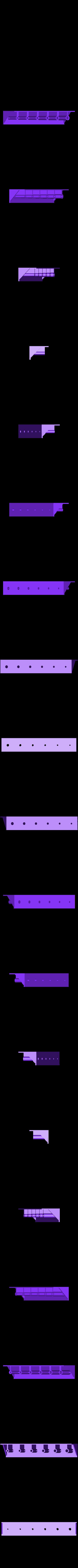 """ToolHolderProgressiveHoleSizes.stl Télécharger fichier STL gratuit Porte-outil (""""OpenSCAD Parametric"""") • Objet imprimable en 3D, HelibertoFranco"""