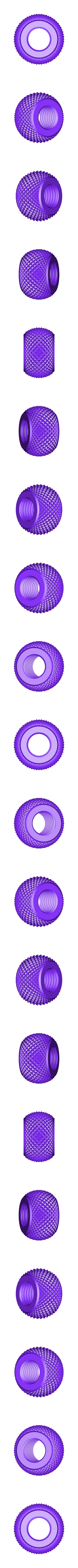 yet_another_knurling_nut.stl Download free STL file Yet another knurling bolt and nut • 3D printer object, akira3dp0