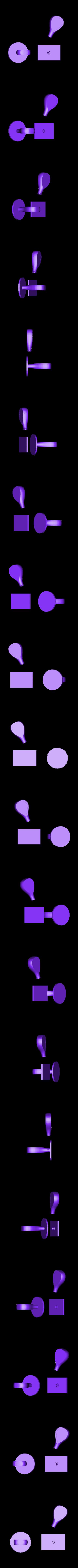 stamphandle-white1.stl Télécharger fichier STL gratuit poignée en polymère / poignée enfichable • Modèle imprimable en 3D, Kaipa