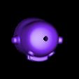 Kuchipatchi_2b1_top.stl Télécharger fichier STL gratuit Kuchipatchi Tamagotchi • Objet imprimable en 3D, crashdebug