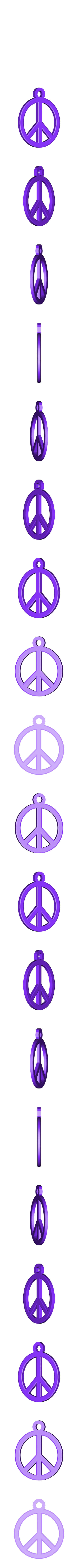 peace_earing.stl Télécharger fichier STL gratuit Boucle d'oreille Paix • Modèle à imprimer en 3D, ErnyCrazyPrinter