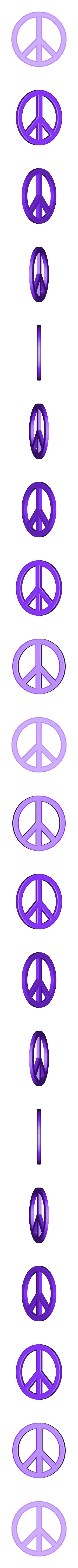 peace_sign.stl Télécharger fichier STL gratuit Boucle d'oreille Paix • Modèle à imprimer en 3D, ErnyCrazyPrinter