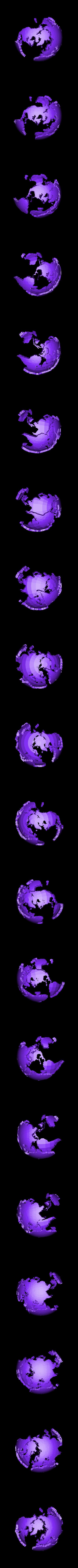 2color_world_giant_land.stl Télécharger fichier STL gratuit Monde géant creux à deux couleurs • Plan à imprimer en 3D, ErnyCrazyPrinter