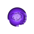 2color_world_giant_water.stl Télécharger fichier STL gratuit Monde géant creux à deux couleurs • Plan à imprimer en 3D, ErnyCrazyPrinter