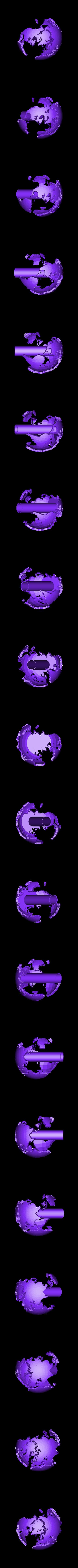 2color_world_giant_land_support.stl Télécharger fichier STL gratuit Monde géant creux à deux couleurs • Plan à imprimer en 3D, ErnyCrazyPrinter
