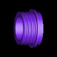 Threddedendcap_V2.stl Télécharger fichier STL gratuit Porte-serviettes en papier GRAB et GO. (Pour montage mural ou sur panneau IKEA !) • Design imprimable en 3D, 3DED