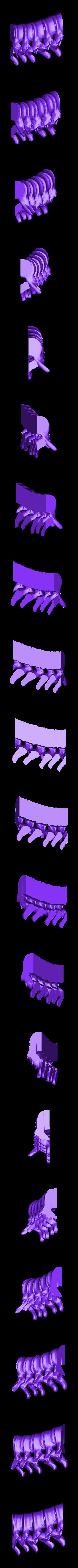 spine_middle_left.stl Télécharger fichier STL gratuit Bougeoir pour la colonne vertébrale • Modèle pour impression 3D, billythemighty3Dprinter